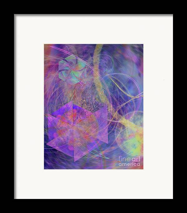 Turbo Blue Framed Print featuring the digital art Turbo Blue by John Beck