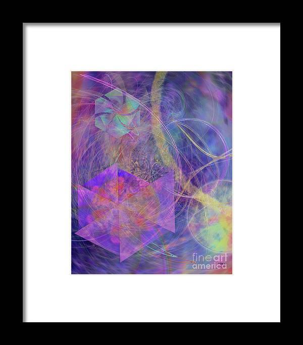 Turbo Blue Framed Print featuring the digital art Turbo Blue by John Beck