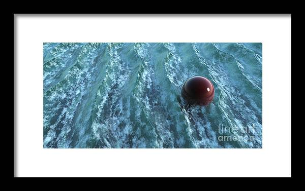 Waves Framed Print featuring the digital art Turbulence by Richard Rizzo