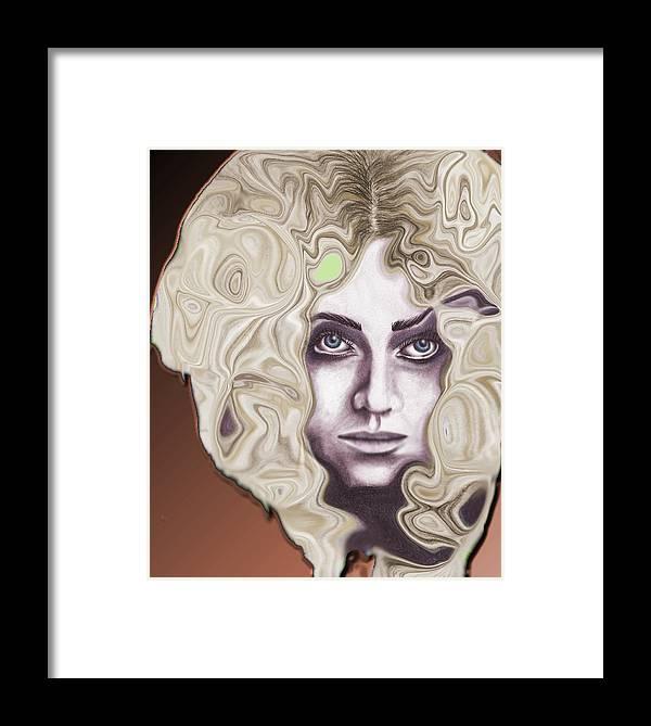 Woman Framed Print featuring the digital art Turbulence by Samantha Kulchar