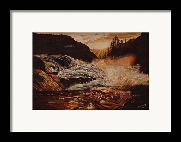 Water Framed Print featuring the painting Turbulent Waters by Quwatha Valentine