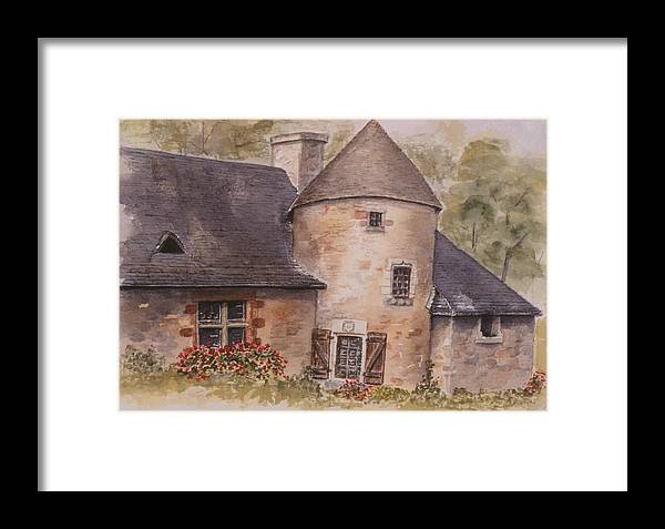 Watercolor Framed Print featuring the painting Turenne by Mary Ellen Mueller Legault