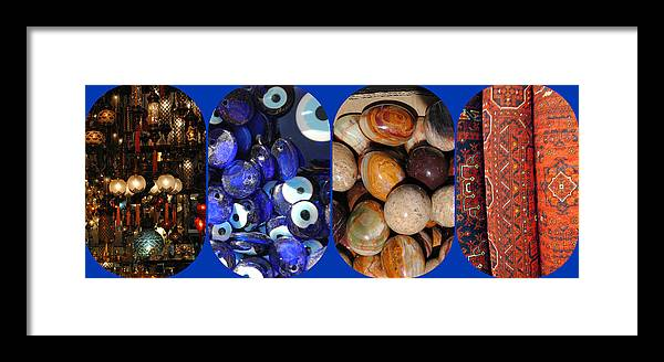 Turkish Treasures Framed Print featuring the photograph Turkish Bazaar - One by Jacqueline M Lewis