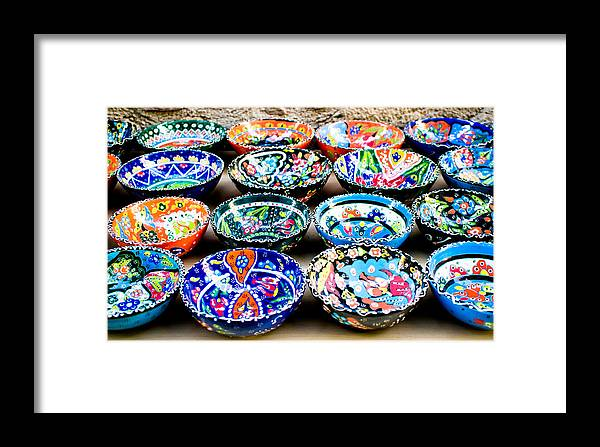 Art Framed Print featuring the photograph Turkish Bowls by Tom Gowanlock