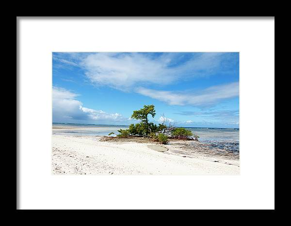 Beach Framed Print featuring the pyrography Turks And Caicos by Heather Fiedler