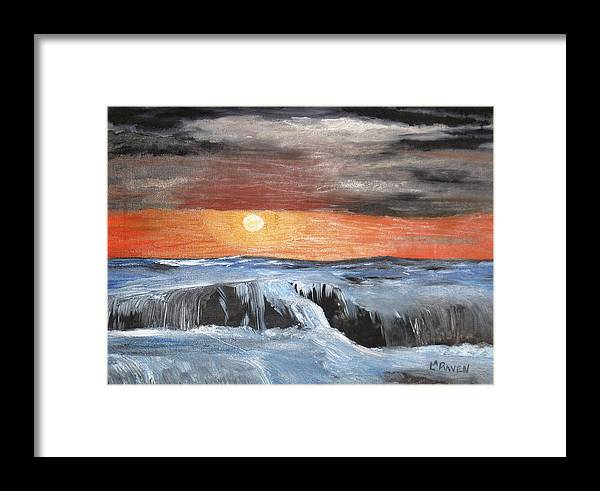 Landscape Framed Print featuring the painting Turmoil by L A Raven