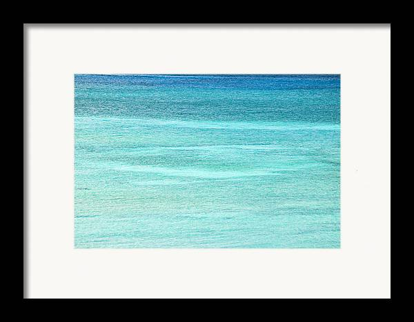 Nobody Framed Print featuring the photograph Turquoise Blue Carribean Water by James Forte