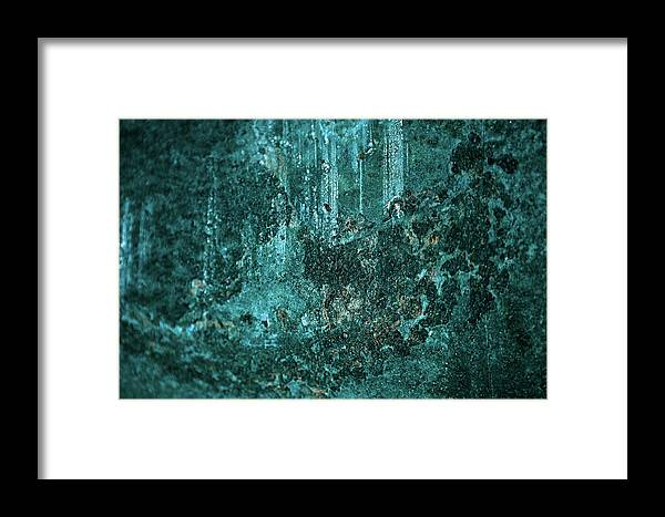 Photography Framed Print featuring the photograph Turquoise Texture by Joseph Cortes