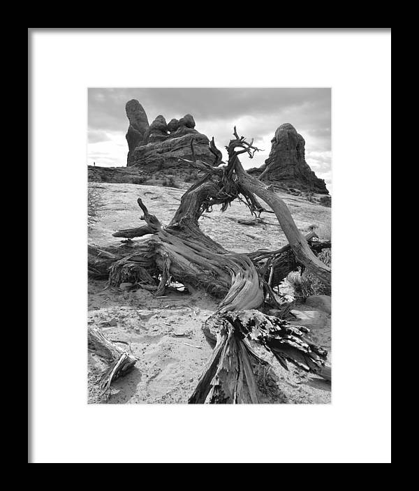 Arches Framed Print featuring the photograph Turret Arch - Bw by Lynn Kim