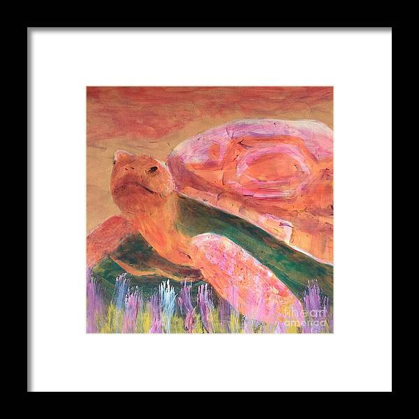 Art Portfolio Framed Print featuring the painting Tortoise by Donald J Ryker III