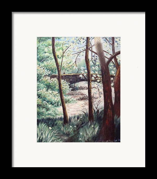Nature Framed Print featuring the painting Turtle Island by Scott Plaster