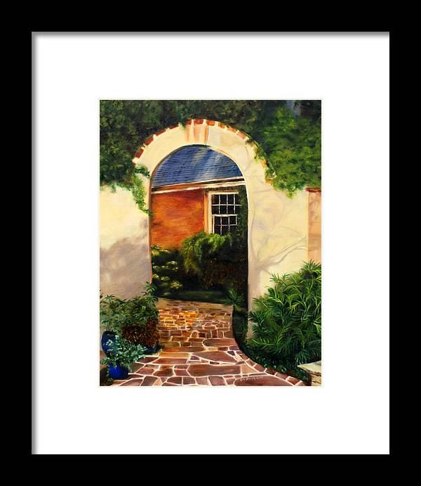 Framed Print featuring the painting Tuscan Arch by Denise Lockhart Bush