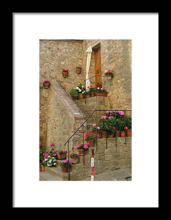 Tuscan Framed Print featuring the photograph Tuscan Cottage by Donna Corless