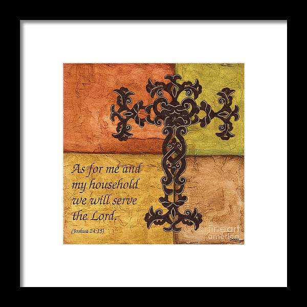 Cross Framed Print featuring the painting Tuscan Cross by Debbie DeWitt