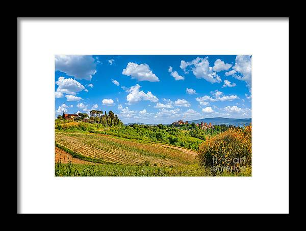 Beautiful Framed Print featuring the photograph Tuscan Idyll by JR Photography