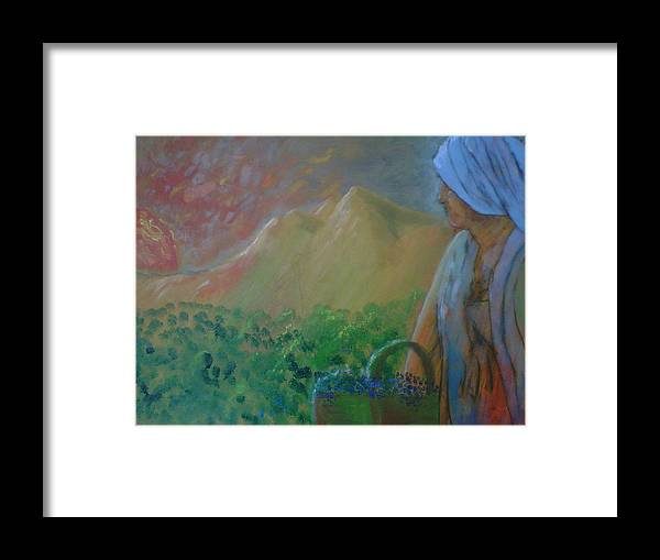 Sunset Framed Print featuring the painting Tuscan Sunset by J Bauer