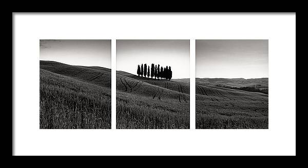 Tuscany Framed Print featuring the photograph Tuscany Triptych by Michael Hudson