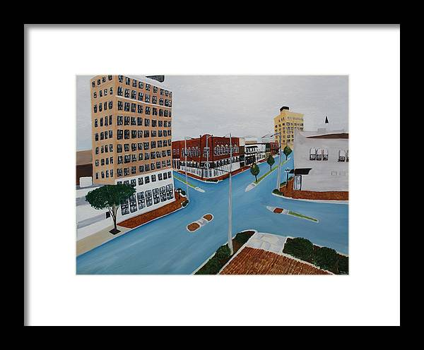 Tuscaloosa Framed Print featuring the painting Tushka Lusa by Tammy Dunn