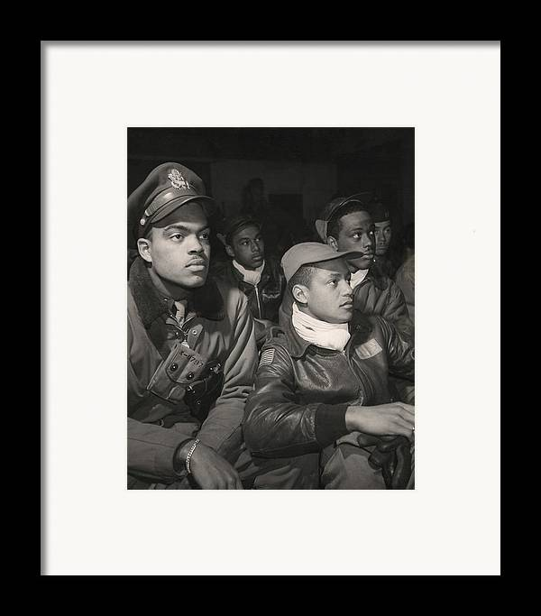 History Framed Print featuring the photograph Tuskegee Airmen Of The 332nd Fighter by Everett