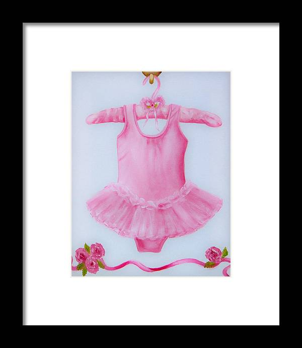 Oil Framed Print featuring the painting Tutu by Joni McPherson