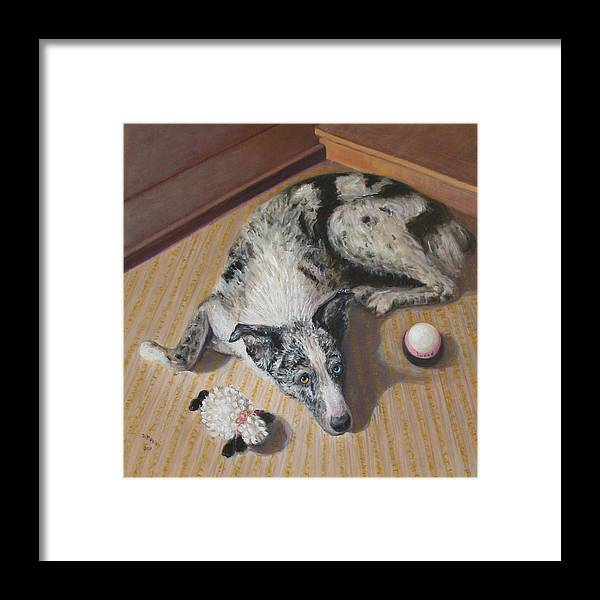 Realism Framed Print featuring the painting Tweed by Donelli DiMaria