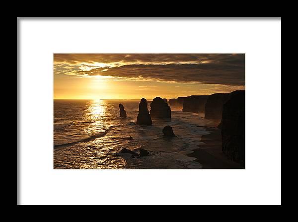 Landscape Framed Print featuring the photograph Twelve Apostles by Buncha Apiraksukhumal