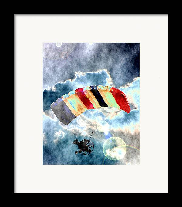 Kite Plane Framed Print featuring the photograph Twenty-first Century Icarus by Roger Soule