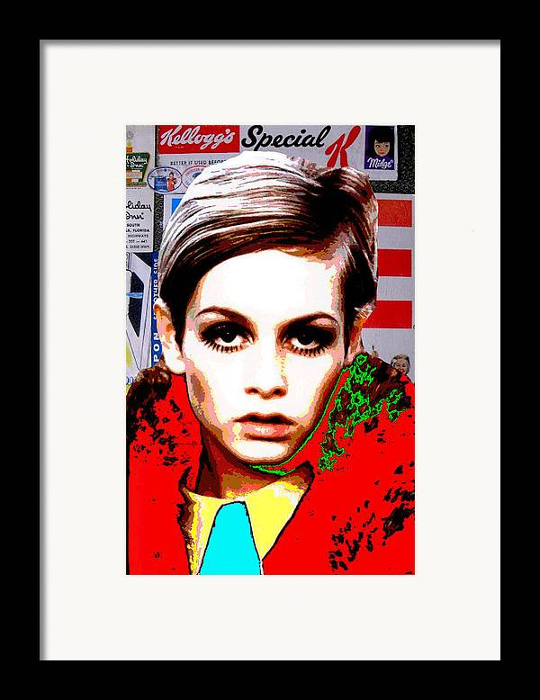 Twiggy Framed Print featuring the digital art Twigg 2 by Chandler Douglas