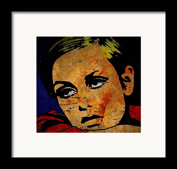 Lesley Lawson Framed Print featuring the painting Twiggy by Otis Porritt
