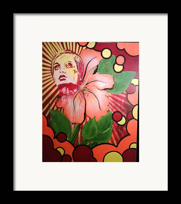 Twiggy Framed Print featuring the painting Twiggy by Stephen Barry