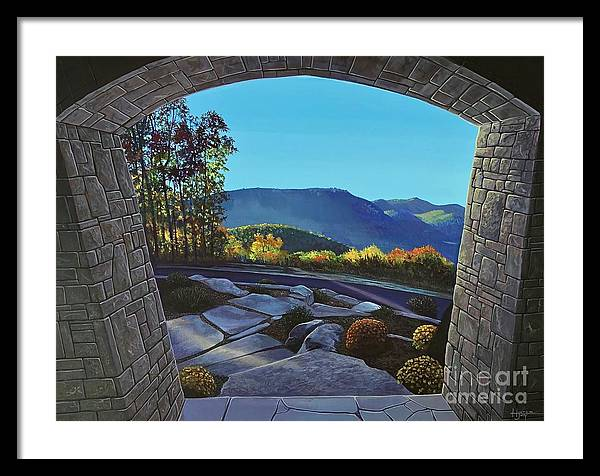 Mountain View Framed Print featuring the painting Twilight at Hunter Ridge by Hunter Jay