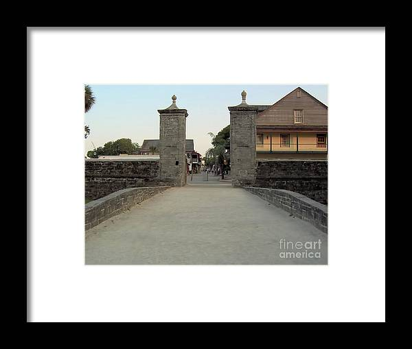 City Gates Framed Print featuring the photograph Twilight At The City Gates by D Hackett