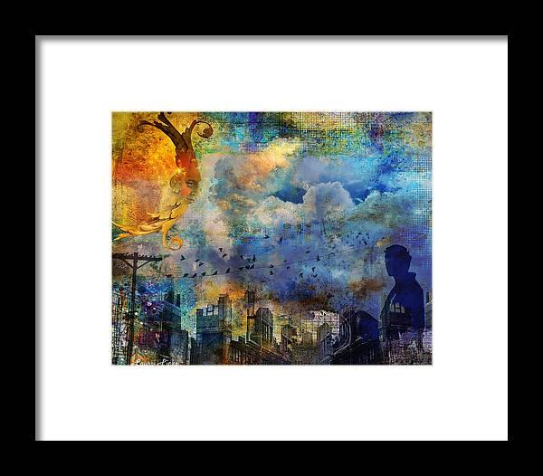 Fantasy Framed Print featuring the digital art Twilight Dreams by Laura Lipke