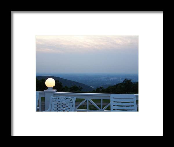 Porch Framed Print featuring the photograph Twilight by Evelynn Eighmey