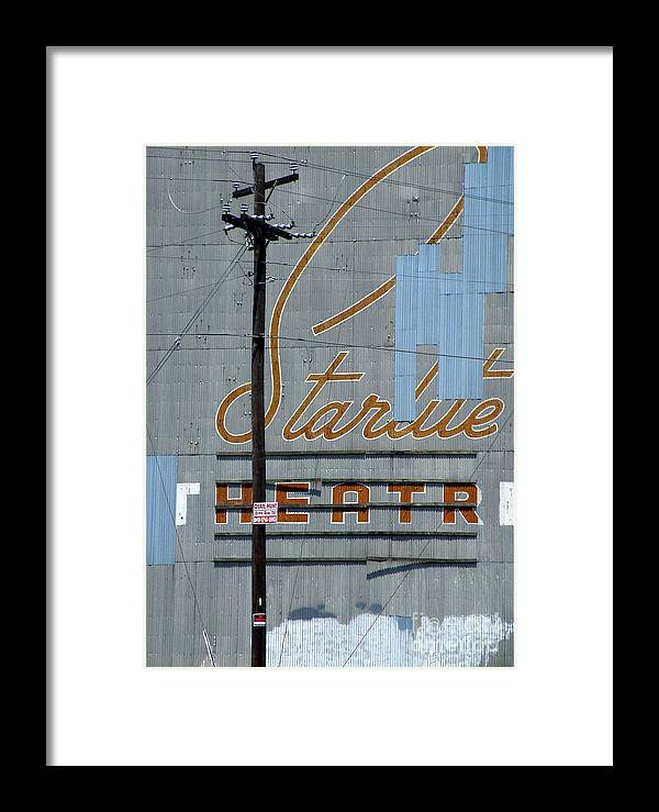 Outdoor Theater Print Framed Print featuring the photograph Twilight For Starlite by Joe Jake Pratt