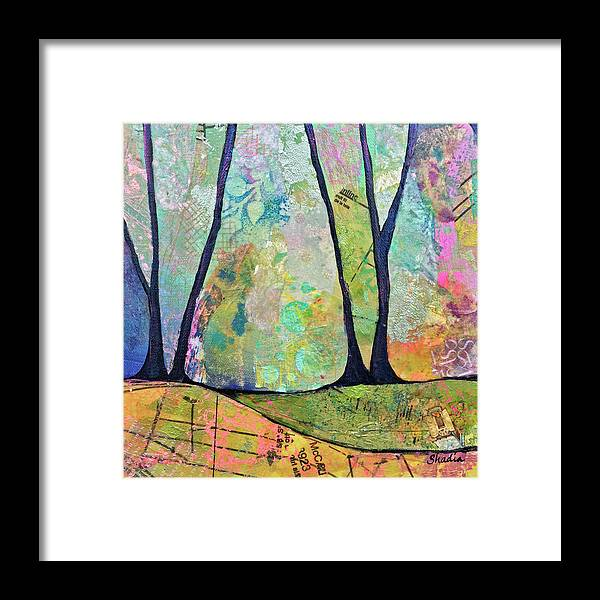 Fall Framed Print featuring the painting Twilight I by Shadia Derbyshire