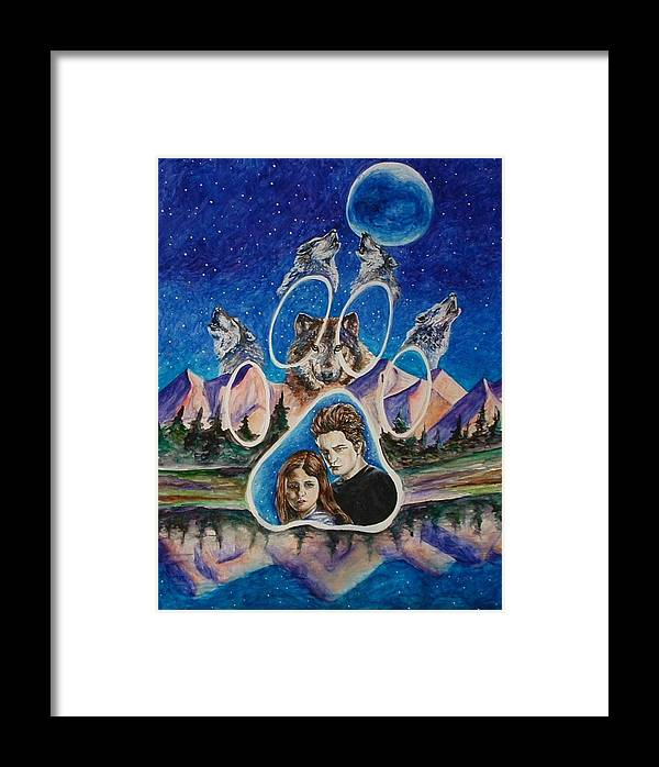 Twilight Movie Framed Print featuring the painting Twilight Imprinting by Andrea Darlington