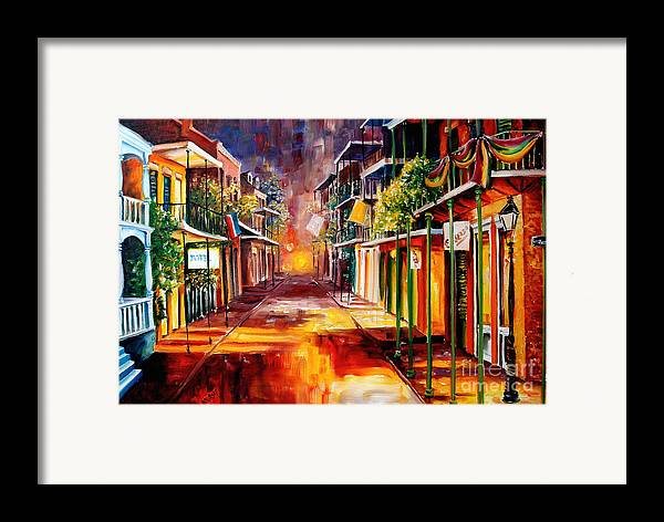 New Orleans Framed Print featuring the painting Twilight In New Orleans by Diane Millsap