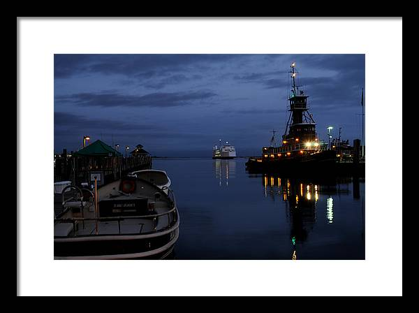 Port Jefferson Framed Print featuring the photograph Twilight Last Gleaming by Victor Rugg