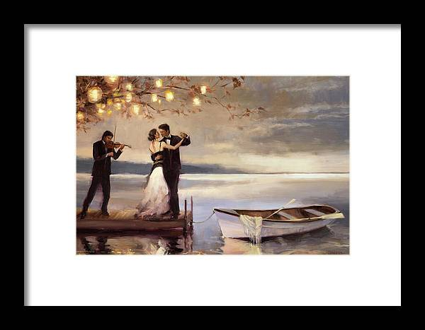 Romantic Framed Print featuring the painting Twilight Romance by Steve Henderson