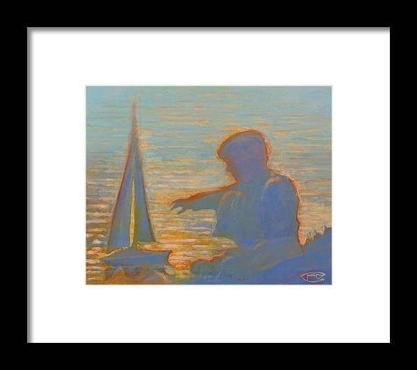 Portrait Framed Print featuring the painting Twilight Sailor by Kip Decker
