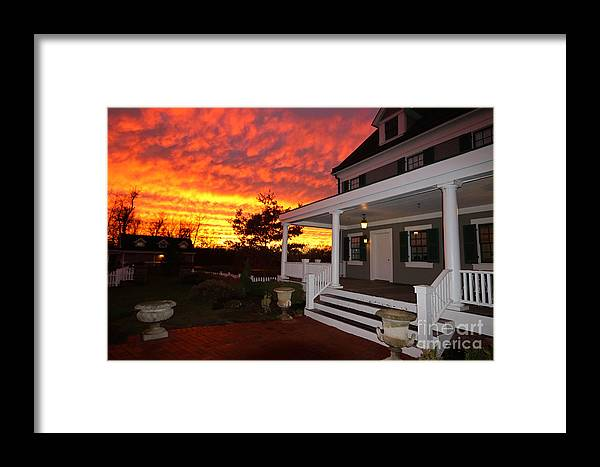 Sky Framed Print featuring the photograph Ambassador House At Twilight by Steve Gass