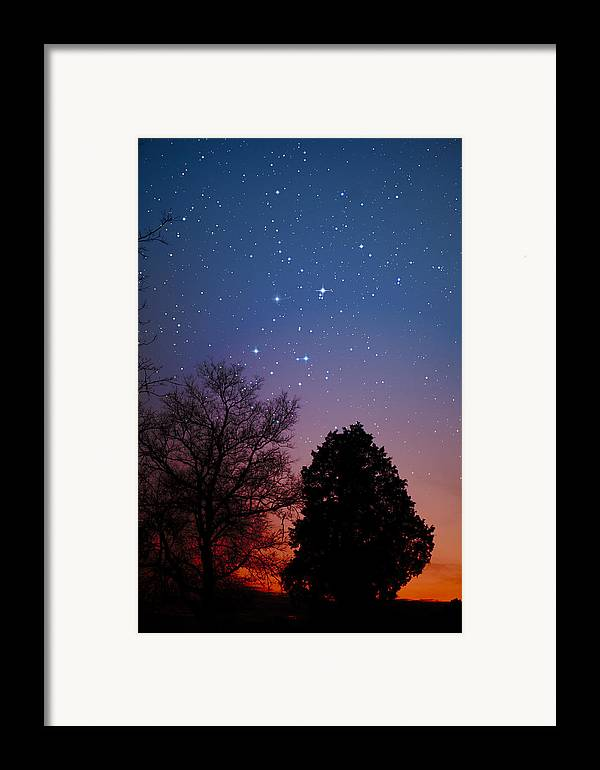 Stars Framed Print featuring the photograph Twilight Transitions by Charles Warren