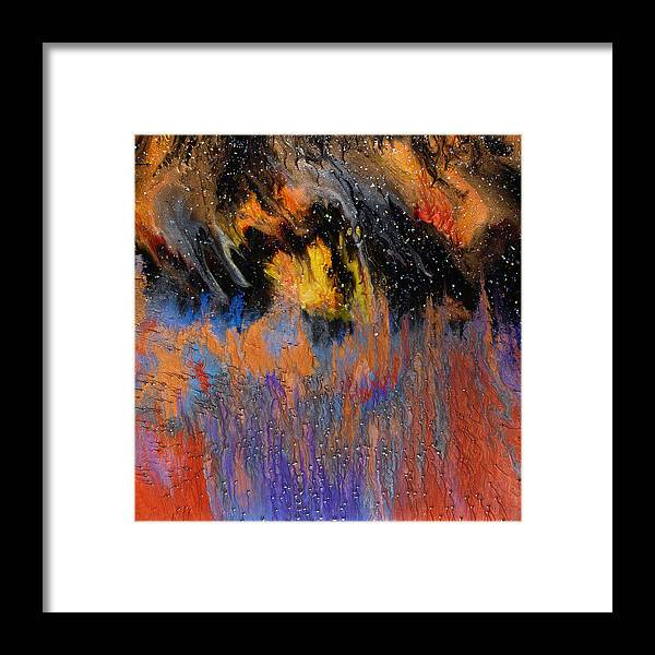 Abstract Framed Print featuring the painting Twilight Wonder by Paul Tokarski