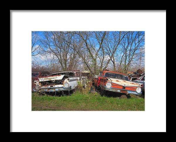 1959 Ford Framed Print featuring the photograph Twin '59's by Rich Brandt