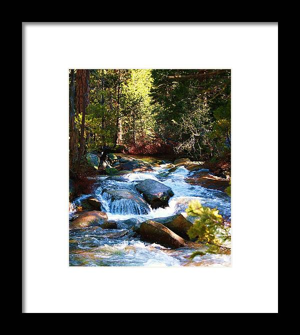 Landscapes Framed Print featuring the photograph Twin Bridges Cascades by Russell Barton