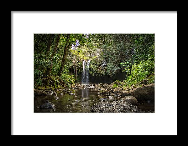 Waterfall Framed Print featuring the photograph Twin Falls, Maui by Kevin Stacey