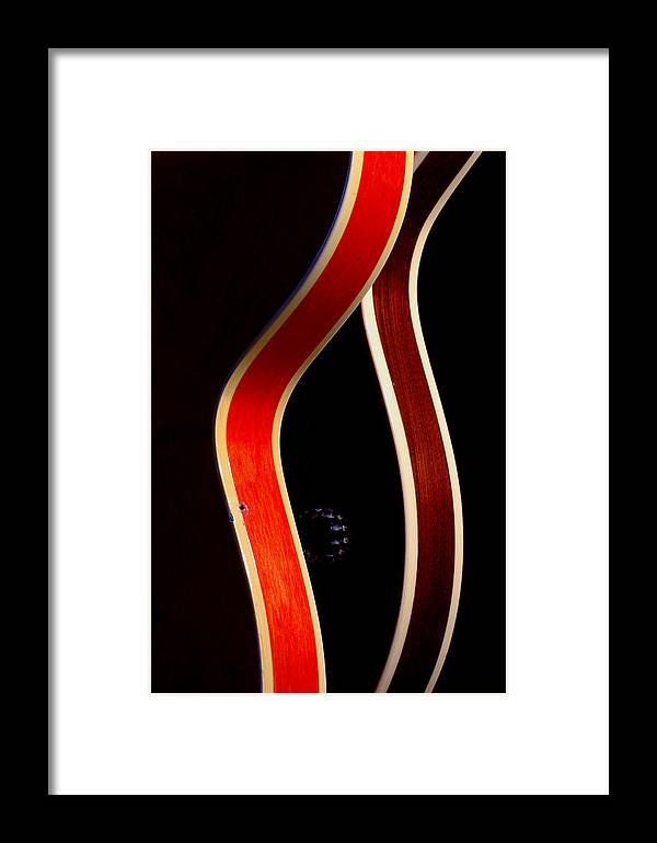 Guitar Framed Print featuring the photograph Twin Gibsons 2 by Art Ferrier