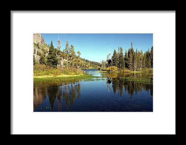 Lake Framed Print featuring the photograph Twin Lakes Mirror by Michael Courtney