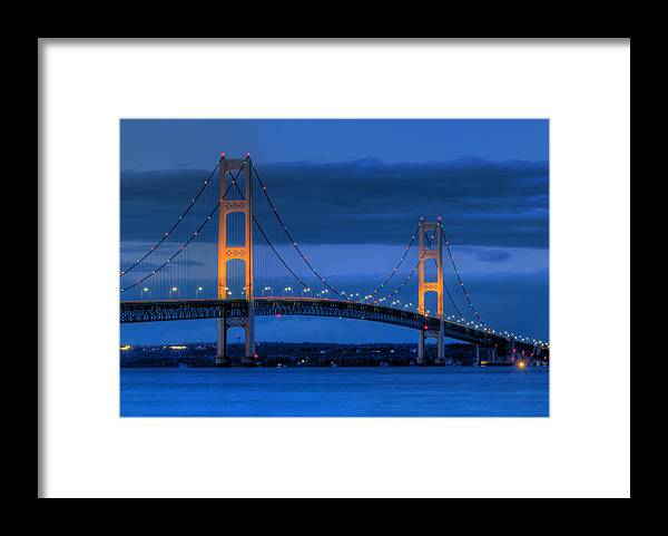 Mackinac Framed Print featuring the photograph Twin Towers Of Northern Michigan by Twenty Two North Photography
